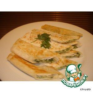 Рецепт Лаваш с сулугуни и зеленью