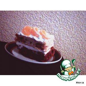 Рецепт Бисквитные пирожные с орехами