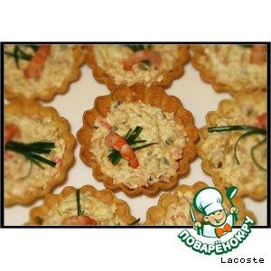 Рецепт Салат из курицы с креветками