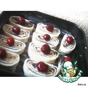 Рецепт Канадские булочки с вишенкой