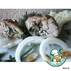 Рецепт Куриные бедрышки фаршированные