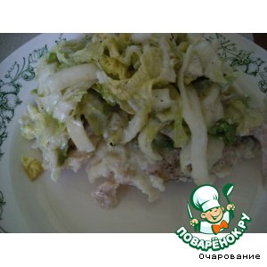 Рецепт Отбивные из куриных грудок с пекинской капустой