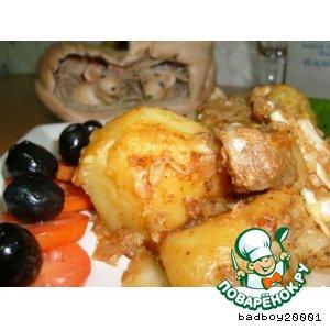Рецепт Картофель, тушеный с капустой