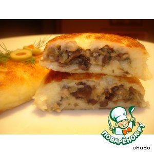 Рецепт Картофельные зразы с икрой из белых грибов