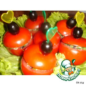 Рецепт Фаршированные помидорчики на скорую руку