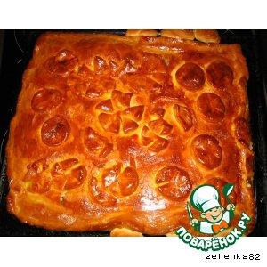 Рецепт Сочный пирог со свежей капустой