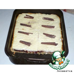 Рецепт Песочно-творожный пирог с вареньем