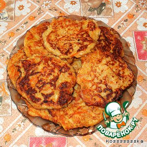 Рецепт Оладушки овощные из начинки