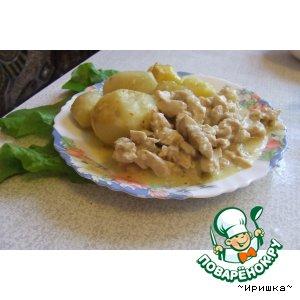 Рецепт Мясо индейки в сливочном соусе