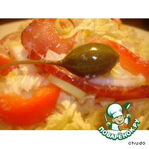 Рецепт Салат из пекинской капусты с  балыком