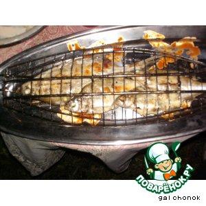 Рецепт: Свежая речная рыба на решетке