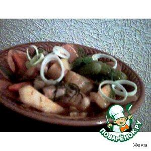 Рецепт Свинина, тушенная с картошкой