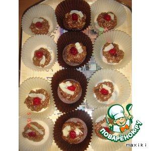 Рецепт Орехово-шоколадное печенье без выпечки
