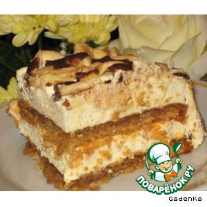 Рецепт Миндальный торт с сырным кремом-суфле