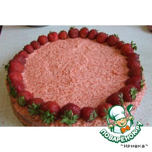 Рецепт Бисквитно-клубничный торт