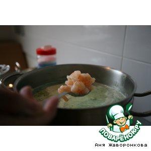 Рецепт Крем-суп из брокколи с креветками