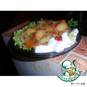 Рецепт Горячий салат с молодым картофелем