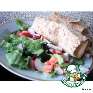 Рецепт Салат с лавашом