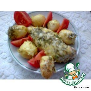 Рецепт Куриные грудки, запеченные с молодым картофелем