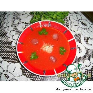 Рецепт Холодный томатный суп