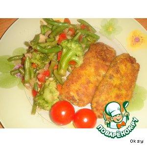Рецепт Картофельные крокеты с сайрой