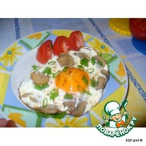 Рецепт Еще один вариант для завтрака - бутерброд с яичницей