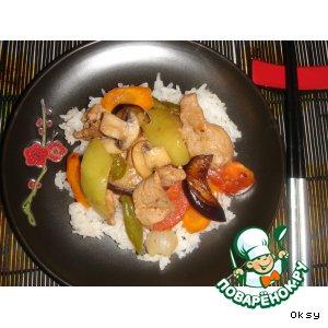 Рецепт Мясо с овощами по-китайски
