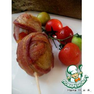 Рецепт Картофель, запеченный с беконом на шпажках «Пикничок»
