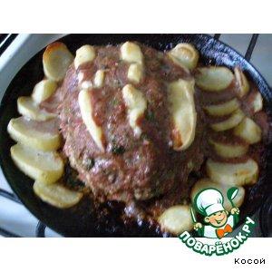 Рецепт Рулетик из рубленного мяса с картошкой