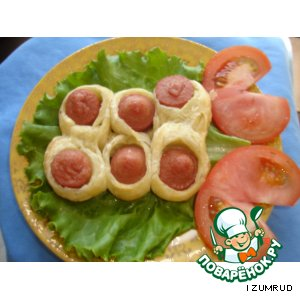 Рецепт Гусенички с сосисками