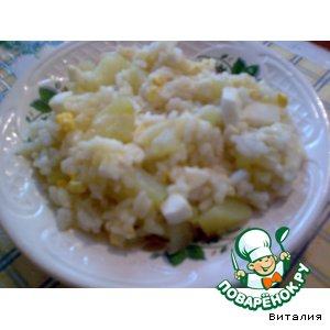Рецепт Кабачок под рисовой шубой