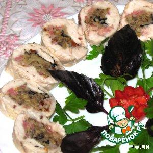 Рецепт Рулет из куриной грудки с начинкой