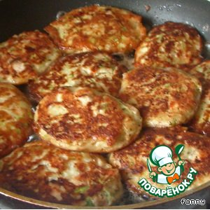 Рецепт Рыбно-кабачковые оладьи