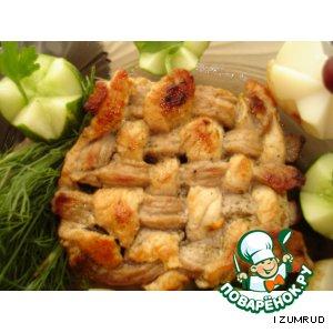 Рецепт Плетеная мясная котлета