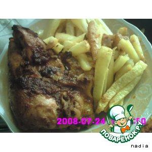 Рецепт Курица под чесночно-перечно-лимонным соусом  с  картофелем