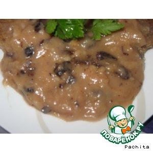 Рецепт Грибной соус с изюмом и черносливом