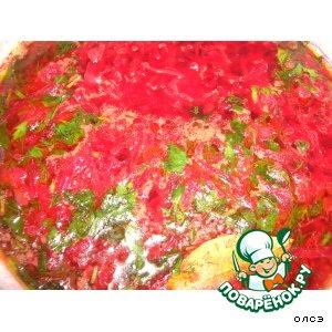 Рецепт Борщ без мяса и капусты