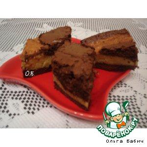 Рецепт Шоколадно-творожное пирожное
