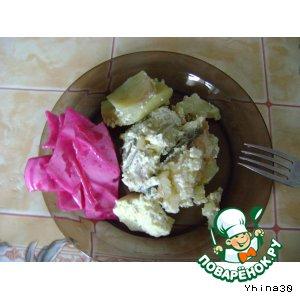 Как приготовить Рыба с картошкой в сливочках вкусный рецепт с фото