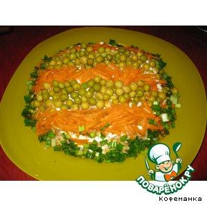 Свекольный салатик в полосочку домашний рецепт с фото как готовить