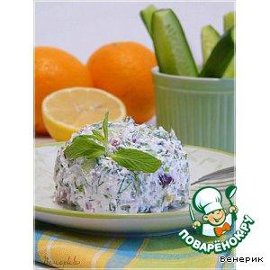 Рецепт Египетский салат с сыром Фета, мятой и укропом