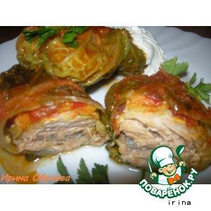 Рецепт Голубцы из савойской капусты с рыбой