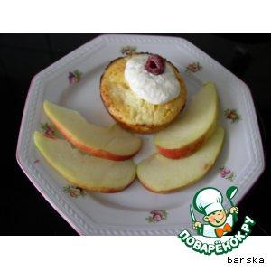 Рецепт Творожно-яблочные кексики (маффины или запеканка)