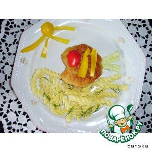 Рецепт РЫБКА - рыбная котлета с овощами