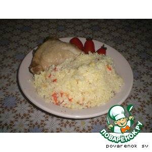 Рецепт Курица с рисом, болгарским перцем и Черри