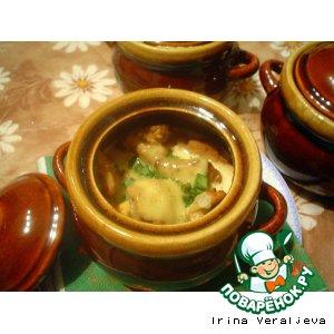 Рецепт Куриные фрикадельки в соусе бешамель, запеченные в горшочках