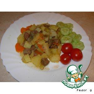 Готовим рецепт приготовления с фотографиями Тушеная говядина с картофелем