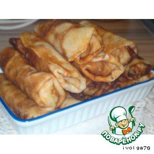 Рецепт Блинчики с куриной печенкой и рисом