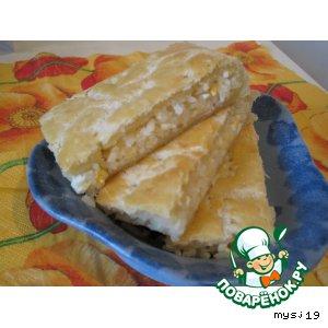 Рецепт Слоеный скороспелый  пирог с несладкой начинкой
