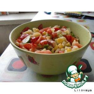 Рецепт Весенний салат со вкусной заправкой